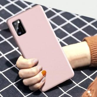 """Rožinis silikoninis dėklas Samsung Galaxy A41 telefonui """"Liquid Silicone"""" 1.5mm"""