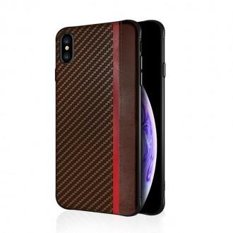 """Rudas silikoninis dėklas Samsung Galaxy G973 S10 telefonui """"Mulsae Carbon"""""""