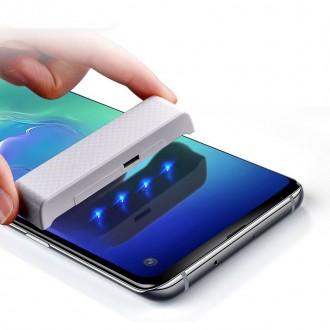 """Skaidrus apsauginis grūdintas stiklas Samsung Galaxy G973 S10 telefonui """"MOCOLO UV GLASS"""""""