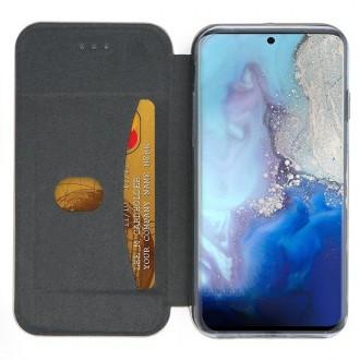 """Juodos spalvos atverčiamas dėklas Samsung Galaxy G981 S20 telefonui """"Book elegance"""""""
