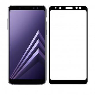 "Juodas apsauginis stikliukas ""5D Full Glue HQ Quality"" Samsung Samsung J415 J4 Plus 2018"