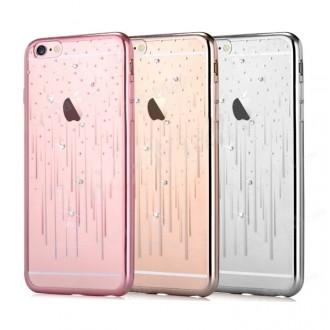 """Sidabrinės spalvos dėklas""""Devia Meteor Crystal"""" Apple iPhone X / XS telefonui"""