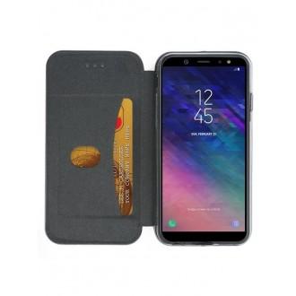 """Sidabrinis atverčiamas dėklas Samsung Galaxy A600 A6 2018 telefonui """"Book Elegance"""""""