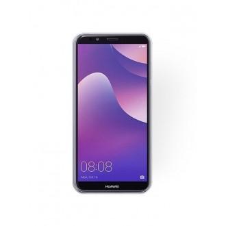 "Sidabrinis blizgantis silikoninis dėklas Huawei Y7 2018 / Y7 Prime 2018 telefonui ""Shining"""