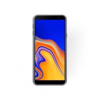 """Sidabrinis blizgantis silikoninis dėklas Samsung Galaxy J415 J4 Plus 2018 telefonui """"Shining"""""""