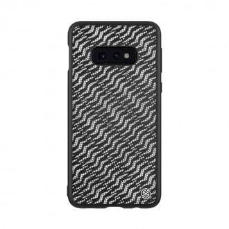 """Juodas / sidabrinis dėklas Samsung Galaxy G970 S10e telefonui """"Nillkin Twinkle"""""""