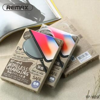 Sidabrinis įkroviklis bevielis Remax RP-W10 5W