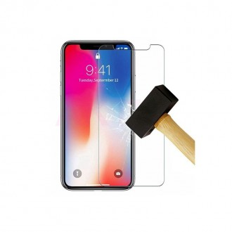 "Skaidrus apsauginis grūdintas stiklas Apple Iphone XS telefonui ""Nano Optics 5D UV Glue"""