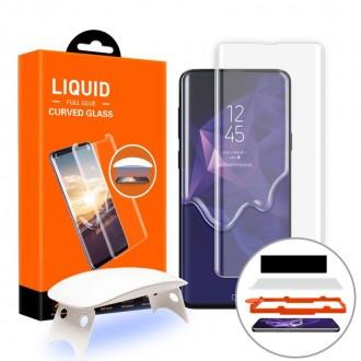 """Skaidrus apsauginis grūdintas stiklas """"T-Max UV Glass"""" Samsung Galaxy S10 telefonui"""