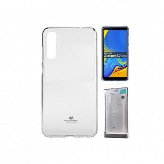 "Skaidrus dėklas Mercury Goospery ""Jelly Clear"" Samsung Galaxy A750 A7 2018 telefonui"