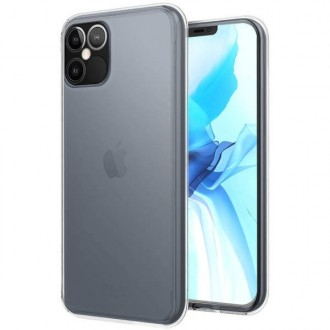 """Skaidrus silikoninis dėklas Apple iPhone 12 Pro Max telefonui """"Clear 1.0mm"""""""
