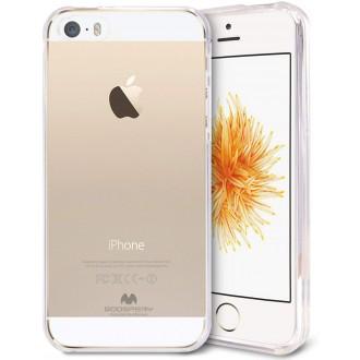 "Skaidrus silikoninis dėklas Apple iPhone 5G / 5S  telefonui Mercury Goospery ""Jelly Clear"""