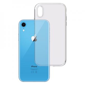 """Skaidrus silikoninis dėklas Apple Iphone XR telefonui """"3MK"""" 1,2mm"""