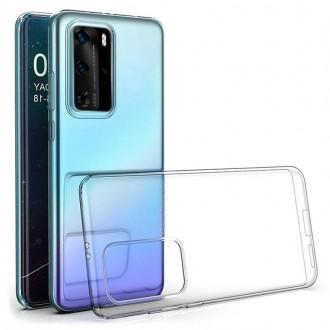 """Skaidrus silikoninis dėklas Huawei P40 Pro telefonui """"Clear 1.0mm"""""""