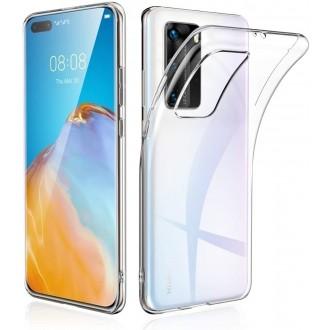 """Skaidrus silikoninis dėklas Huawei P40 telefonui """"Clear 0.5mm"""""""