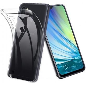 "Skaidrus silikoninis dėklas Samsung Galaxy A21 telefonui ""Clear"" 1,0mm"