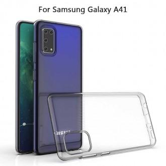 "Skaidrus silikoninis dėklas Samsung Galaxy A41 telefonui ""Clear"" 0,5mm"