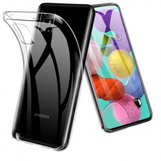 "Skaidrus silikoninis dėklas Samsung Galaxy A515 A51 telefonui ""Clear 1.0mm"""