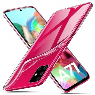 "Skaidrus silikoninis dėklas Samsung Galaxy A715 A71telefonui ""Clear"" 1,0mm"
