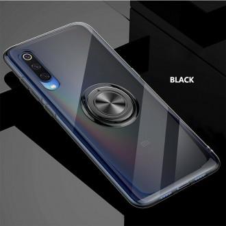 """Skaidrus silikoninis dėklas su juodais apvadais Xiaomi Mi A3 telefonui """"Elegance Ring"""""""