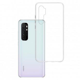 """Skaidrus silikoninis dėklas Xiaomi Mi Note 10 Lite telefonui """"3MK"""" 1,2mm"""