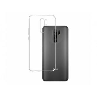"""Skaidrus silikoninis dėklas Xiaomi Redmi 9 telefonui """"Clear 1.0mm"""""""