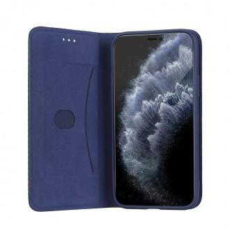 """Tamsiai mėlynas atverčiamas dėklas Samsung Galaxy A02s telefonui """"Smart Senso"""""""