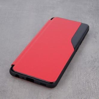 Atverčiamas Dėklas Smart View Xiaomi Redmi Note 10 / 10s raudonas