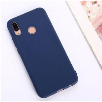 """Tamsiai mėlynas silikoninis dėklas Huawei P30 Lite telefonui """"Rubber TPU"""""""