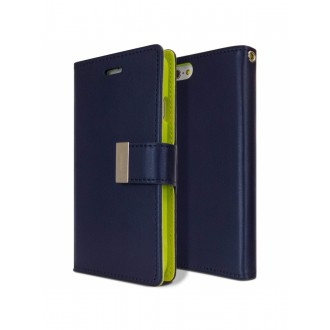 """Tamsiai mėlynas atverčiamas dėklas Apple iPhone 6 Plus telefonui Mercury Goospery """"Rich Diary"""""""