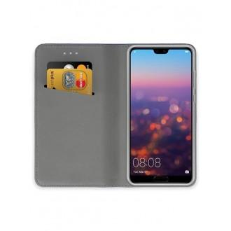 """Tamsiai mėlynas atverčiamas dėklas Huawei P20 telefonui """"Smart Magnet"""""""