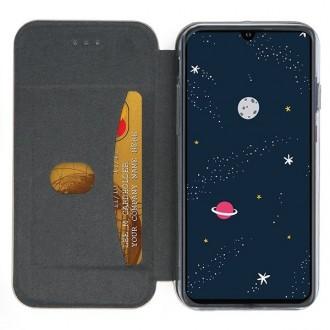 """Tamsiai mėlynas atverčiamas dėklas Huawei P30 Lite telefonui """"Book Elegance"""""""