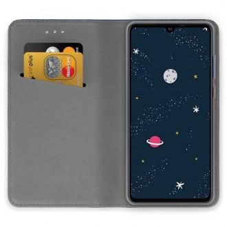 """Tamsiai mėlynas atverčiamas dėklas Huawei P30 Lite telefonui """"Magnetic book"""""""
