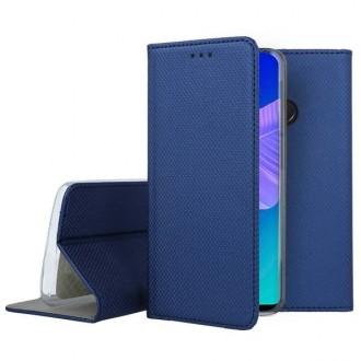 """Tamsiai mėlynas atverčiamas dėklas Huawei P40 Lite E telefonui """"Smart Book Magnet"""""""