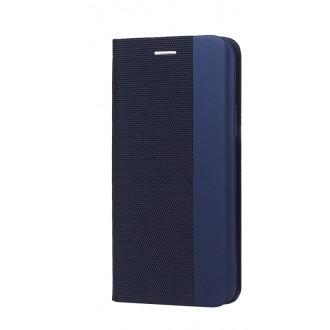 """Tamsiai mėlynas atverčiamas dėklas Huawei P40 Lite / Nova 6 SE / Nova 7i telefonui """"Smart Senso"""""""