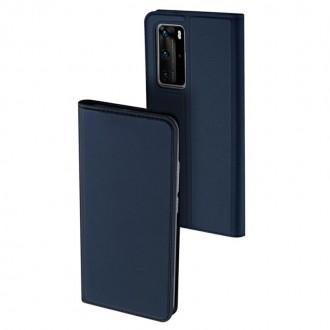 """Tamsiai mėlynas atverčiamas dėklas Huawei P40 Pro telefonui """"Dux Ducis Skin"""""""