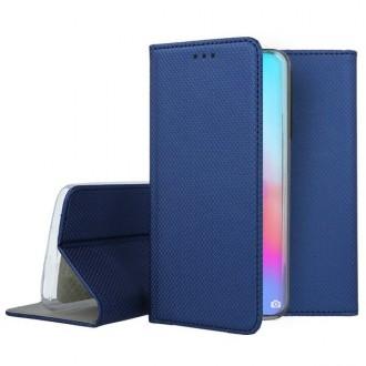 """Tamsiai mėlynas atverčiamas dėklas Huawei P40 Pro telefonui """"Smart Magnet"""""""