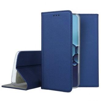 """Tamsiai mėlynas atverčiamas dėklas Huawei P40 telefonui """"Smart Book Magnet"""""""