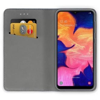 """Tamsiai mėlynas atverčiamas dėklas Samsung Galaxy A105 A10 telefonui """"Magnetic book"""""""