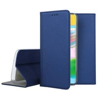 """Tamsiai mėlynas atverčiamas dėklas Samsung Galaxy A41 telefonui """"Smart Magnet"""""""