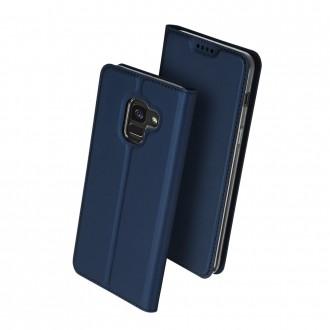 """Tamsiai mėlynas atverčiamas dėklas Samsung Galaxy A600 A6 2018 telefonui """"Dux Ducis Skin"""""""