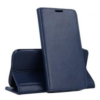 """Tamsiai mėlynas atverčiamas dėklas Samsung Galaxy A715 A71 telefonui """"Magnetic book"""""""