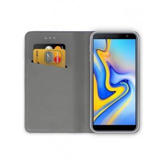 """Tamsiai mėlynas atverčiamas dėklas Samsung Galaxy J610 J6 Plus 2018 telefonui """"Smart Magnet"""""""