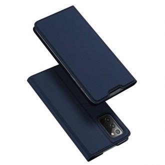 """Tamsiai mėlynas atverčiamas dėklas Samsung Galaxy Note 20 telefonui """"Dux Ducis Skin"""""""