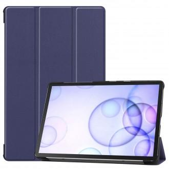 """Tamsiai mėlynas atverčiamas dėklas Samsung T860 / T865 Tab S6 """"Smart Leather"""""""