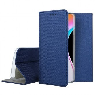 """Tamsiai mėlynas atverčiamas dėklas Xiaomi Mi 10 / Mi 10 Pro telefonui """"Smart Book Magnet"""""""