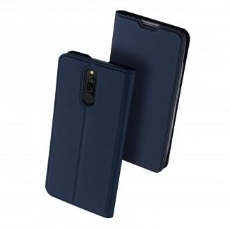 """Tamsiai mėlynas atverčiamas dėklas Xiaomi Redmi 8 telefonui """"Dux Ducis Skin"""""""