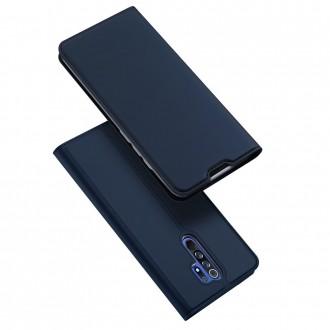 """Tamsiai mėlynas atverčiamas dėklas Xiaomi Redmi 9 telefonui """"Dux Ducis Skin"""""""
