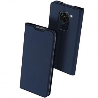"""Tamsiai mėlynas atverčiamas dėklas Xiaomi Redmi Note 9 telefonui """"Dux Ducis Skin"""""""