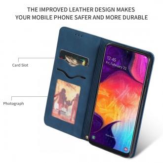 """Tamsiai mėlynas atverčiamas dėklas Samsung Galaxy A505 A50 / A507 A50s / A307 A30s telefonui """"Business Style"""""""